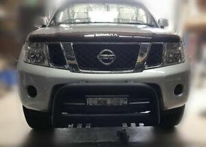 Matt Black Nudge Bar For Nissan Navara D40 2005-2014 (Span/Thai Version)