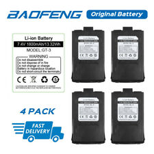 4Pack Original 7.4V 1800mAh Li-ion Battery for Baofeng Gt-3 Gt-3Tp Two-way Radio