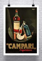 Campari Vintage 1926 Italian Liquor Poster Fine Art Paper Giclee Print 24x32 in.