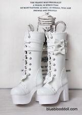 1/4 bjd MSD MDD doll white color platform long boots shoes dollfie dream Luts