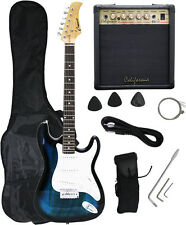 Crescent BLUEBURST Electric Guitar+15w AMP+Strap+Cord+Gigbag NEW