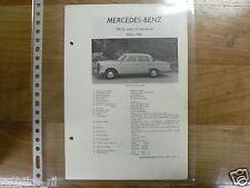 ME18-MERCEDES-BENZ TYPE 190DC SEDAN EN STATIONCAR 1962-