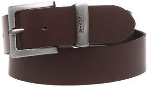 Mens Levis Leather Jean Belt With Metal Logo Tab Albert 4170 - Dark Brown