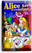 ALICE IN WONDERLAND LIGHT DIMMER VIDEO CABLE WALL PLATE KIDS BEDROOM ROOM DECOR