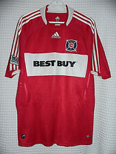MLS CHICAGO FIRE ADIDAS CLIMALITE RED POLO JERSEY LARGE SIZE