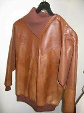 1980's Joseph Olivier Paris Brown Leather Pullover Jacket