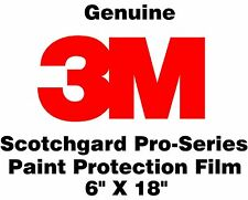 "3M Scotchgard Pro Series Paint Protection Film Clear Bra Bulk Roll 6"" x 18"""