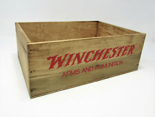 Surdy Empty Wood Winchester Arms & Ammunition Box Crate Storage Man Cave