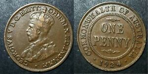 1924 Penny Indian Obverse Variety