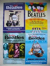 BEATLES/Bootleg Live in Concert 2011/12/13/14/15 UK Tours Promo tour flyers x 4