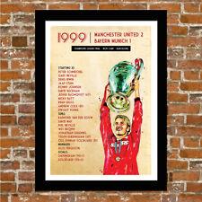 MANCHESTER UNITED - MAN UTD FRAMED ART PRINT - 1999 CHAMPIONS LEAGUE.