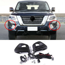 2020 FIT FOR NISSAN PATROL LED FRONT FOG LIGHTS WITH/ BULBS SWITCH CABLE FRAME