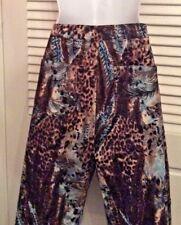 Women's  Animal print pants Dressy Beaded Size large