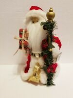 """Vintage Santa Claus Tree Topper Christmas Tabletop Decoration 12 1/2"""" Tall."""