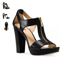 9dd4fbc209 Michael Michael Kors Berkley ZIPPER Front Heeled Sandals 834 Black 7 US / 37