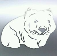 Cute Wombat Australian Animals Vinyl cut Sticker, 130×100mm aussie made & design