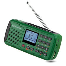 Portable FM/MW Radio Hand Crank Solar Emergency Radio LED Flashlight Recorde