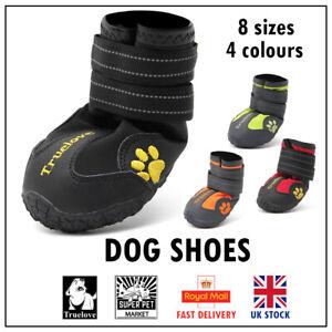 Dog Shoe Boots Truelove Anti-Slip Waterproof Puppy Walk Black Red Orange Yellow