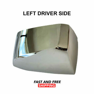 Volvo Vnl Vnr Vnx 300 400 640 740 760 860 Hood Mirror Chrome Cover Left Driver