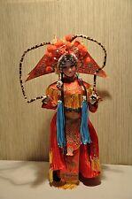 Seidenpuppe China Peking Oper Dekorationspuppe ca. 45cm aus Sammlungsaufösung