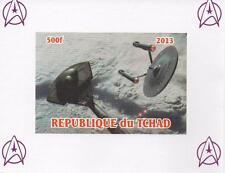 STAR TREK REPUBLIQUE DU TCHAD MINIATURE MINT IMPERFORATED STAMP SHEETLET 2013