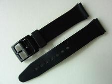 Uhrenarmband aus Kunststoff, schwarz, neu und ungetragen