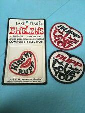 NOS NIP NWP Snomobile Patch Emblems Vintage Rupp Heart Lake Star Lot Set (pink)