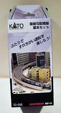 Kato 23048 N Gauge Unitrack Double Track Concrete Ties Incline Pier Set (32pcs)