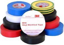 3M 1610-TEMFLEX ELECTRICAL TAPE 20mx19mmx.15mm 10-Rolls Rainbow PVC *USA Brand