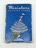 Vintage Miniature Travel Playing Cards Deck Rare Collectible Girl Poodle No. 197