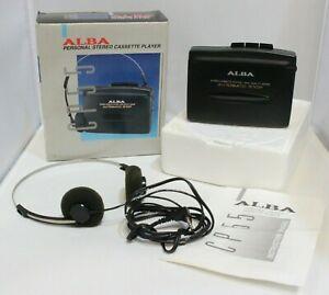 Alba Retro Vintage Walkman Personal Cassette Player CP-55 Boxed w/Headphones-232