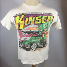 Vintage Steve Kinser Sprint Car Racing 90s T Shirt Knoxville Quaker State Oil
