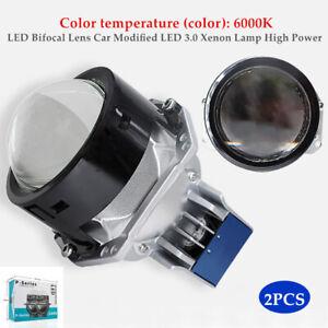 Pair 120W 20000LM LED Bifocal Lens Car LED 3.0 Xenon Lamp High Power Headlight