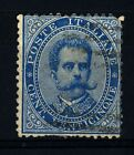 ITALIA - Regno - 1879 - Effigie di Umberto I° - 25 cent. azzurro