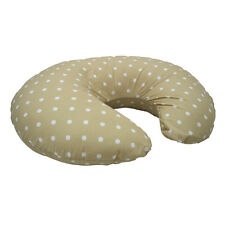 Dotty Cream Babys Nursing Pillow/Cushion Removable Cover UK made Breast Feeding