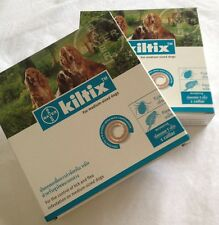 2x Kiltix Dog Collar Tick Flea 5 months control Medium size infestation Bayer