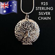 Tree of Life Oil Diffuser Pendant 925 Sterling Silver Chain Necklace + FREE Pads