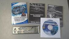Back plate for MSI G41M-P43 Combo motherboard, Manual, drivers CD