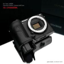 GARIZ XS-CHA6600BK Leather Half case for Sony A6600, Black