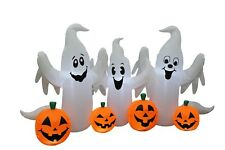 6 Foot Wide Halloween LED Inflatable Ghosts Pumpkins Patch Party Yard Decoration