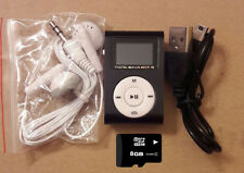 Riproduttore lettore MP3 Radio FM + Cuffia + Cavo Mini USB + scheda Micro SD 8GB