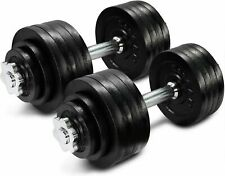 105lb total Adjustable Dumbbells Weight Set with Cast Iron Weights YES4ALL