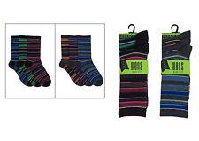 12 Pares Para Hombre Fashion calcetines UK Size 7-11 (81439)