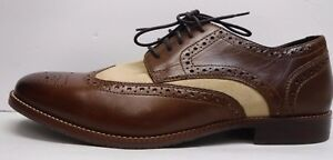Rockport Size 8.5 Brown Leather Wing Tip Oxfords New Mens Shoes