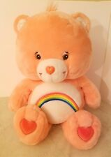 "Large Jumbo 26"" Pink Cheer Care Bear Rainbow Stuffed Animal Plush Toy"