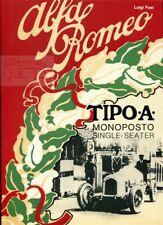 Alfa Romeo Tipo A Book Fusi Monoposto Single Seater Racing