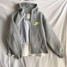 Nike x Sacai Grey Hoodie Sweatshirt Peplum Back Size M