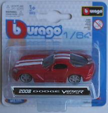 Bburago - ´08 / 2008 Dodge Viper SRT-10 rot 1:64 Neu/OVP