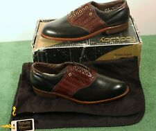 NEW in Box Men's 10 D M FootJoy Classics Style 51284 Black/Brown Golf Shoes