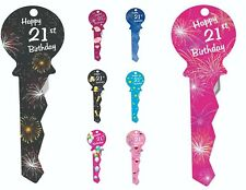 21st BIRTHDAY PARTY DECORATIONS LARGE SUPPLIES - SIGNATURE GUEST KEY - GIFT